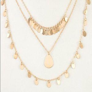 Multi Row Dangle Necklace Set